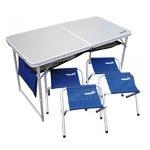 Набор складной мебели Helios (стол + 4 табурета)